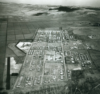 Aerial view of Lanai City in 1929. -Photo Courtesty of the Lāna`i Culture and Heritage Center