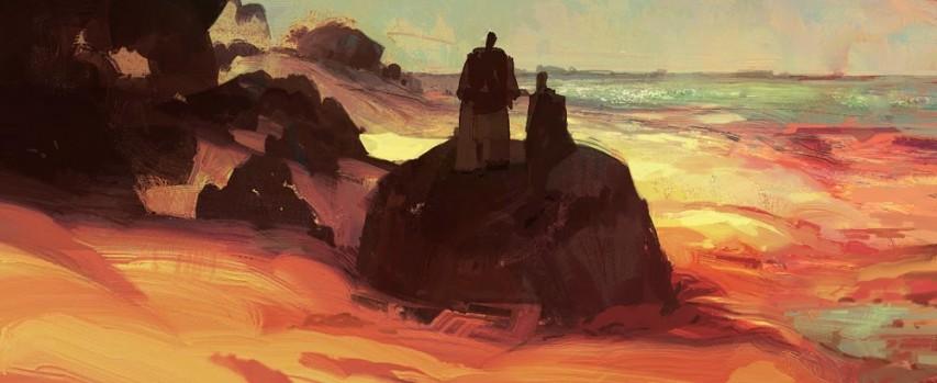 Kane and his Shadow - Art by Dan Mcpharlin